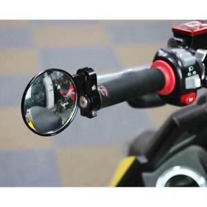 Universal-7-8-034-Round-Motorcycle-Bar-End-Mirrors-Rearview-Side-Motorbike-Black