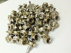 "DOT Snap Fastener Screw Stud #8 Marine Grade Size 3/8"" Stainless Steel"