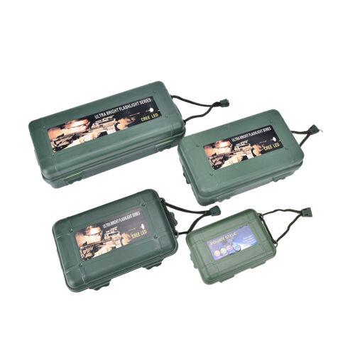1x Waterproof Shockproof Plastic Outdoor Survival Container Storage Case Ca JX