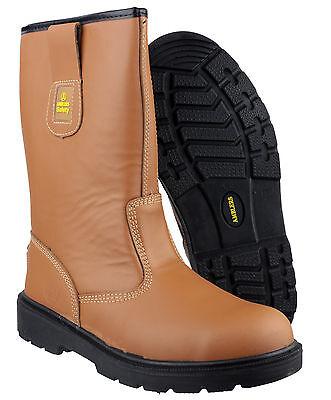 Amblers FS124 Rigger Seguridad Hombres Zapatos Botas Puntera De Acero De Bronceado UK3-15