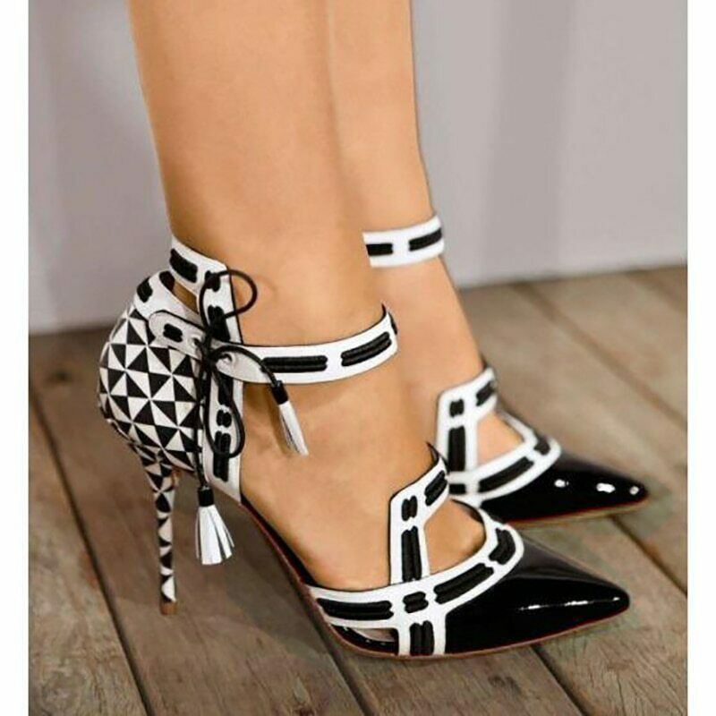 Women pumps sexy high heels stiletto party shoes ladies fashion pointed toe mix