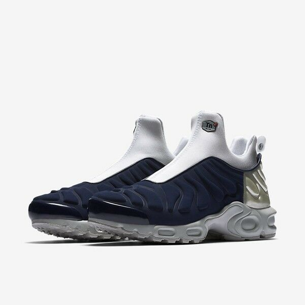 Nike WOMEN'S Air Max Plus Slip SP Midnight Navy/Metallic Silver SIZE 8.5 NEW