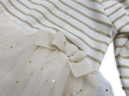 PETIT BATEAU fete robe crème or étoiles 12 M 18 M 24 M 36 M 74 80 86 92 NOUVEAU