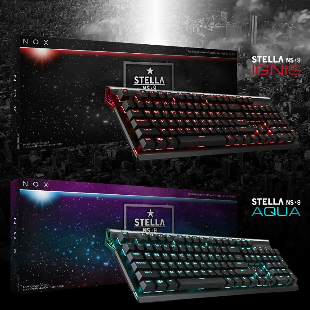 NOX STELLA NS9 Premium Sensor Optical Switch Gaming Keyboard Mechanical Waterpro