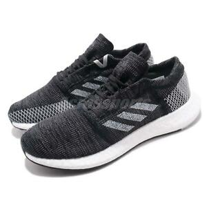 check out 5ff83 ea5fb Image is loading adidas-PureBOOST-Go-Black-Grey-White-Men-Running-
