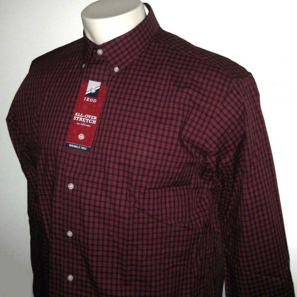 Neu Izod Izod Izod Herren Shirt Dunkelrot Marineblau Langärmlig Xlt 2xlt 3XL 3xlt 4XL 4xlt | Flagship-Store  | Ruf zuerst  6ef683
