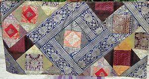 Taie-d-039-oreiller-patchwork-en-soie-Fait-a-la-main-en-Inde-Housse-de-coussin-S23