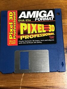 Amiga-Format-cover-disk-65a-Pixel-3D-Professional-TESTED-WORKING