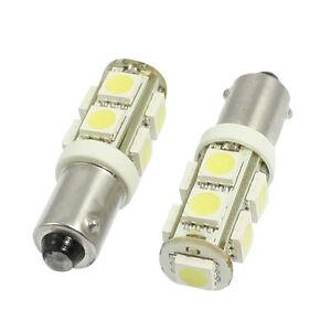 2-Pcs-plastique-BA9S-Blanc-5050-9-SMD-Ampoule-DEL-Auto-Voiture-Lumiere-Tournant-Lampe-LW