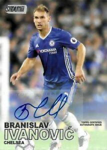 2016-17 TOPPS STADIUM CLUB SOCCER Branislav Ivanovic Chelsea Rare Auto Card #56