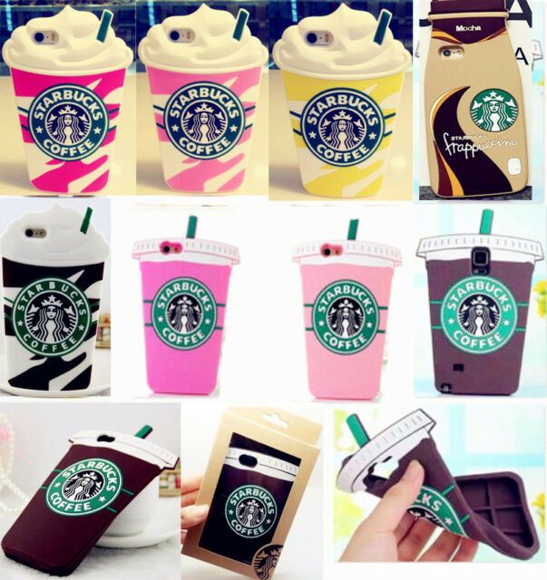 Cool Starbucks Soft Silicone Cover Case For iPhone 5 5c 6P Samsung S5 6 Note 3 4