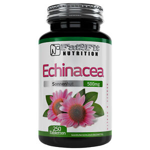 Echinacea-250-Tabletten-je-500mg-Fat2Fit-Nutrition-Gesundheit-Erkaeltung