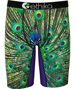 Ethika-Peacock-Print-Men-Underwear-Sports-Shorts-Boxer-Pants-Size-S-M-L-XL-XXL