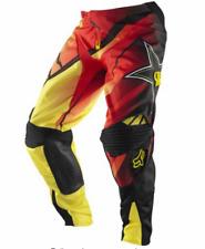 FOX 360 ROCKSTAR MOTOCROSS PANTS #32 NEW RRP $199 MX red yellow dirt bike off rd