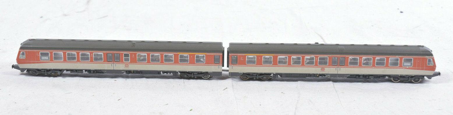 2-tlg. Fleischmann H0 DB Triebwagen BR 614044-6 + 614038-8 Personenwagen Diesel