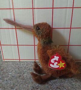 Ty Beanie Baby Beak the Kiwi Bird with RARE misprint on swing tag  4229b01b0e