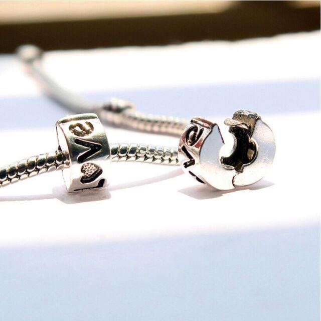 1*Women Alloy Safety Stopper Beads For Bracelets & Bangle DIY Making OZ FT