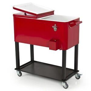 Patio/Deck Rolling Cooler w/Cart- Outdoor/Home 65 Qt. Solid Steel Construction! - Deutschland - Patio/Deck Rolling Cooler w/Cart- Outdoor/Home 65 Qt. Solid Steel Construction! - Deutschland