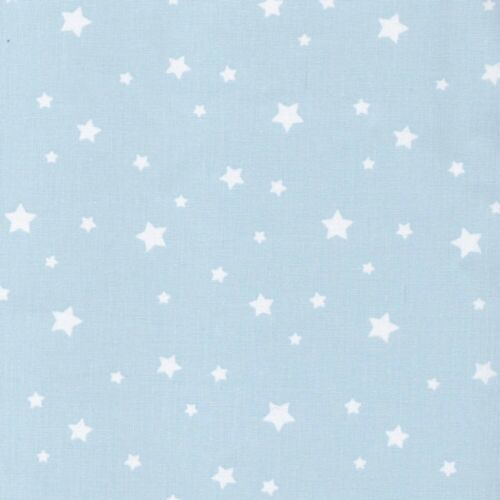 Glacier Blue 100/% Cotton Fabric Modern Scattered Star Etoile Stars