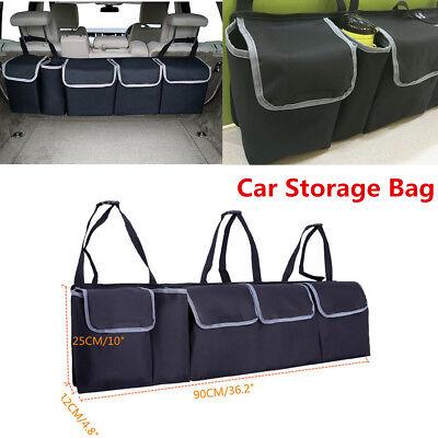 Black High Capacity Multi-Use Car Seat Back Organizers Bag Interior Accessories