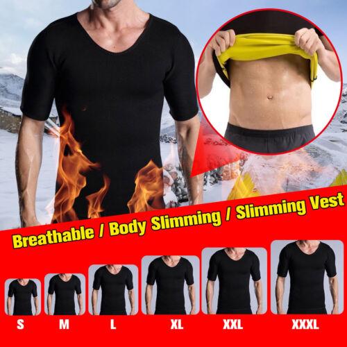 Men Gym Slimming Neoprene Shaper Sauna Suit Sweat Body Waist Trainer Shapewear