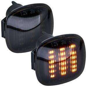 LED-Clignotants-Lateraux-Noir-pour-Skoda-Superb-Type-3U4-Annee-2001-2008