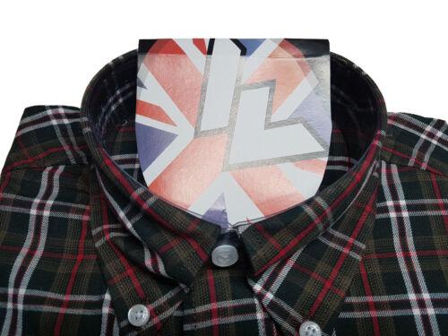 Warrior UK England Button Down Shirt PURSEY Slim-Fit Skinhead Mod Retro