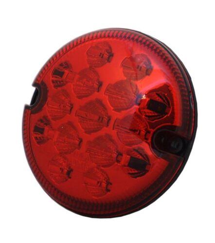 For Land Rover Defender 88 90 109 110 Nas Red LED Fog Light 12//24V 95mm Wipac
