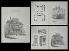 SEINE-PORT, MAIRIE - PLANCHES ARCHITECTURE 1895 - BUVAL