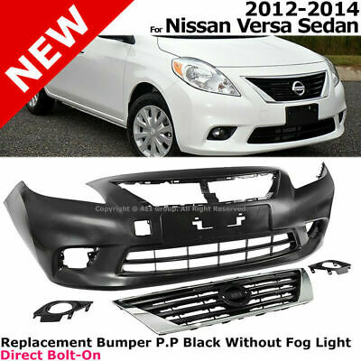 New Rear Bumper Cover For Nissan Versa BLACK SEDAN