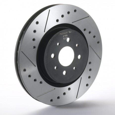 Rear Sport Japan Tarox Brake Discs fit Lancer Evo IX Rear Fitted 2 pot  05>08