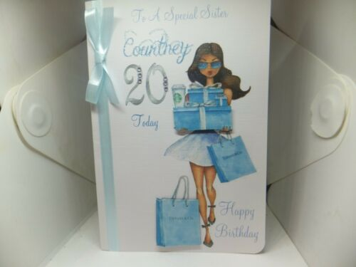 PERSONALISED FEMALE BIRTHDAY CARD WITH MATCHING ENVELOPE