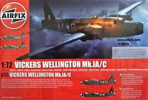 Airfix-1-72-Vickers-Wellington-Mk-IA-C-New-Plastic-Model-Kit-1-72-A08019-MkIA-Mk