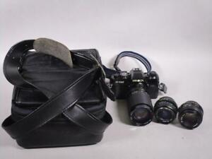 Minolta X-700 Kamera mit verschied. Objektiven + Tasche   1M5427