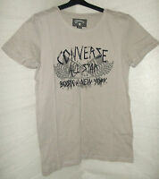 Converse T-shirt Manches Courtes Mario Boy 12 Ans Beige Grise