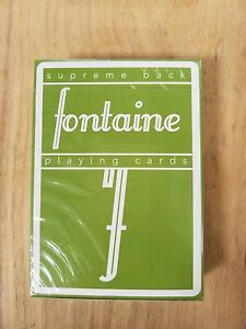 New-Green-Fontaine-Playing-Cards-Limited