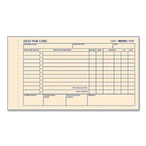 rediform time clock cards gummed 1 part 7 x 4 25 sheet size