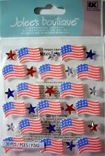 American Flag Stars /& Stripes 4th July USA Liberty Free Brave Jolee/'s 3D Sticker