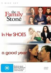 3-DISC-SET-THE-FAMILY-STONE-IN-HER-SHOES-A-GOOD-YEAR-DVD-RATED-M
