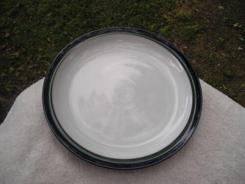 Denby Regatta White Center Green Blue Rim Dinner Plate 1527
