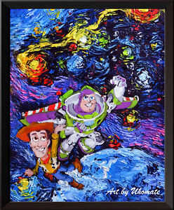Space Toy Story Poster Van Gogh Starry Night Wall Decor Canvas Art ...