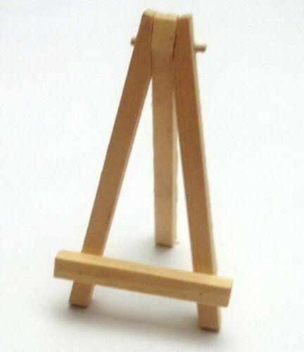 miniature maison de poupée 11,5 cm  *M3 chevalet de peintre en bois brut