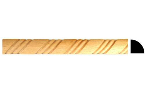"""10pc Total 40ft Quarter Round Rope Wood Moulding Molding Trim MB823 1//2/"""" x 4FT"""