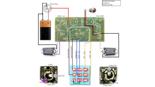 diy fuzz face pedal all kitsdiy guitar pedals kits with 1590b