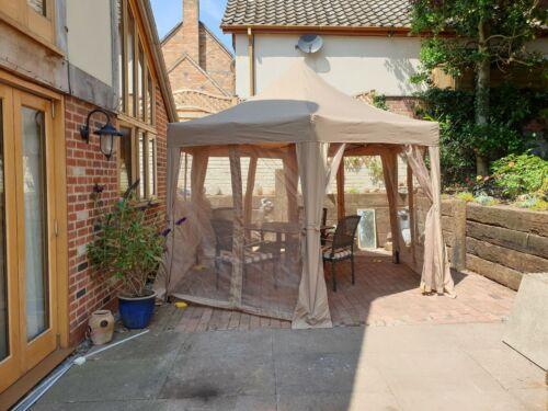 Garden Classics 3.6m x 3m Horwood Metal Frame Gazebo Beige