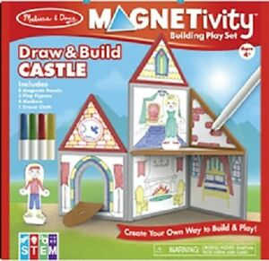 Details About Melissa Doug Magnetivity Magnetic Draw And Build Castle 30659