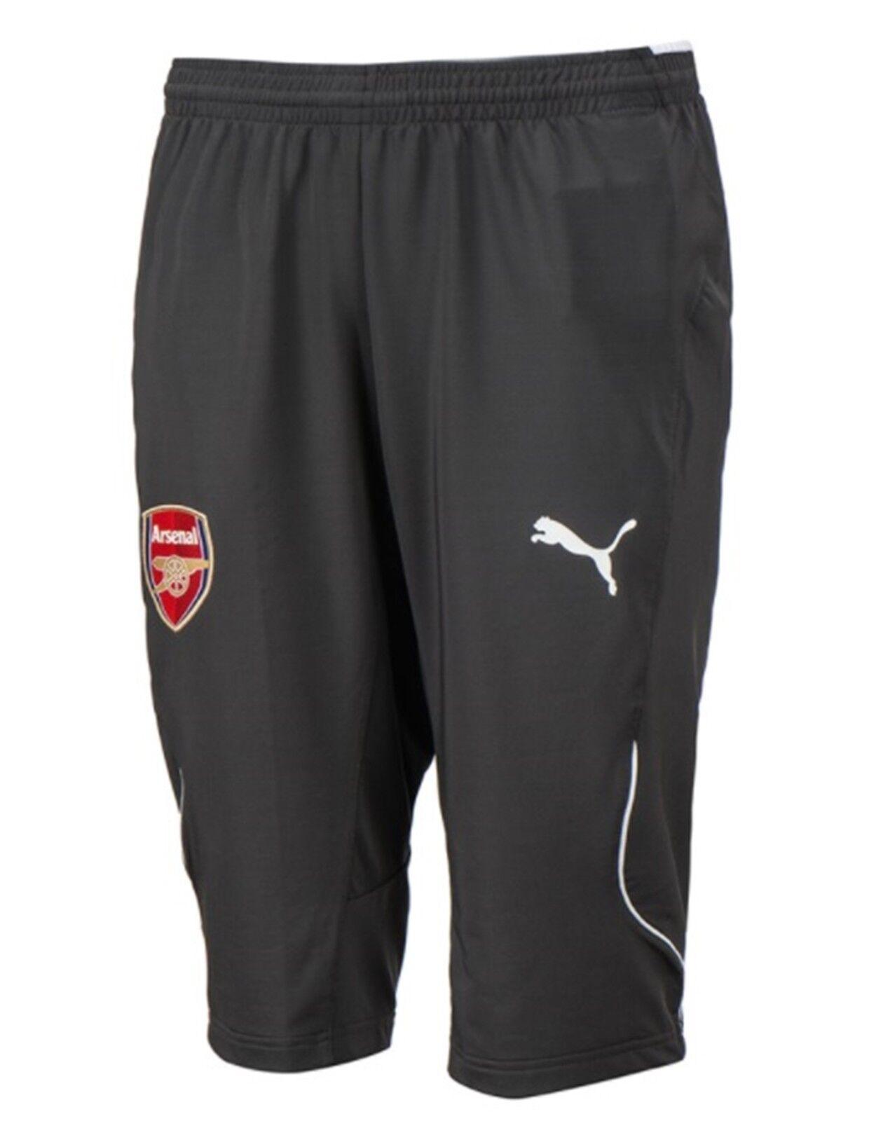 Puma Men Arsenal 3/4 Shorts Pants Training grau Athletic Soccer Pant 751707-01