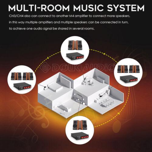 4 Channel Bluetooth 5.0 Verstärker Stereo Audio Amplifier Multi-room Speaker Amp