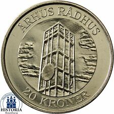 Danimarca 20 corone 2002 stgl. Aarhus Municipio Torre in blister/Coincard