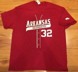 pretty nice e0780 eae3c Details about Mike Bolsinger Arkansas Razorbacks Baseball Shirsey T-shirt